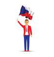 czech republic flag waving man vector image vector image