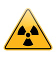 danger radiation sign vector image