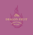 dragon fruit cafe abstract sign symbol or vector image