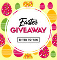 easter giveaway banner for social media contest vector image vector image