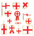 england flags vector image