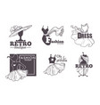 fashion retro boutique isolated icons female vector image vector image