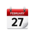 february 27 flat daily calendar icon date vector image vector image