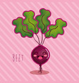 fresh beet vegetable character vector image vector image