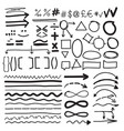 from hand-drawn labels vector image vector image