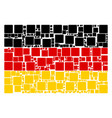 germany flag collage of filled square icons vector image vector image