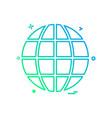 globe icon design vector image vector image