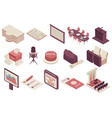 government elections isometric set vector image vector image