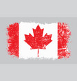 grunge old canadian flag vector image vector image