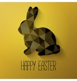 Happy Easter greeting card in low poly triangle vector image vector image