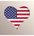 Heart with USA flag on background vector image