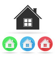 house icon colored icons vector image