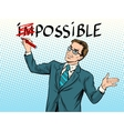 Impossible possible business concept vector image vector image