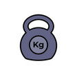 kettlebell icon fitness exercise equipment with vector image