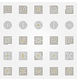 Labyrinth icons set vector image vector image
