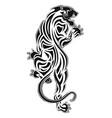 lejpard 0005 furious leopard vector image vector image