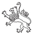 lion on shield is found on johann of heringens vector image vector image