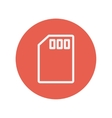 Memory card thin line icon vector image
