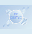 merry christmas christmas balls with gradient in vector image vector image