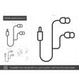 Mobile earphones line icon vector image vector image