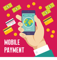 Mobile Payment Creative - Business Co vector image vector image