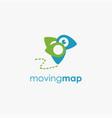 moving pin bird logo icon template vector image