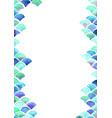 ocean wave and scale fish watercolor border vector image vector image
