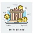 online banking thin line concept vector image vector image