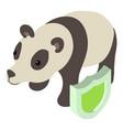 panda icon isometric style vector image vector image