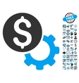 Payment Tools Flat Icon With Bonus vector image vector image