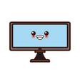 pc monitor hardware kawaii cute cartoon vector image vector image