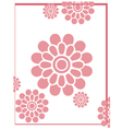 pink flower background vector image