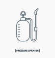 pressure sprayer outline icon garden sprayer vector image vector image