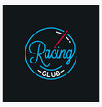 racing club logo round linear logo speed vector image