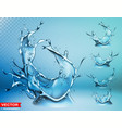 realistic water splash bursts and crown vector image