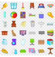 relax in house icons set cartoon style vector image vector image