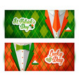 saint patrick s day background with suit vector image vector image