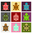 sea turtle hand drawn turtle isolated on vector image vector image