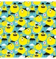 Seamless texture with yellow suns vector image