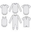 set child wear vector image