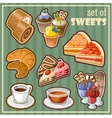 Set of sweets vector image vector image