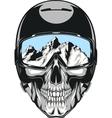 Skull in helmet vector image vector image