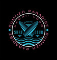 summer paradise hawaii logo surf club est 1978 vector image