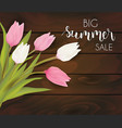 summer sale flowers background vector image vector image