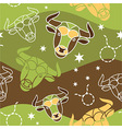 Taurus - Zodiac seamless pattern vector image vector image