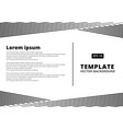 template presentation striped line pattern black vector image