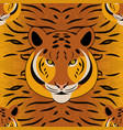tiger head fur texture seamless pattern vector image