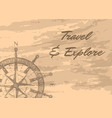 travel and explore banner with compass windrose vector image vector image