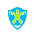 turtle shield protection logo icon vector image vector image