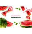 watermelon realistic frame vector image